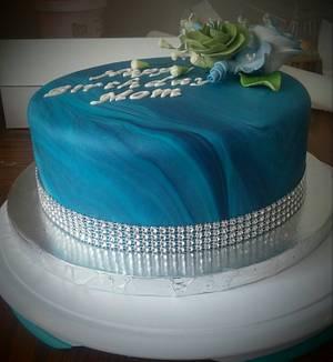 Marbled fondant cake - Cake by m1bame