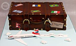 Vintage Suitcase - Cake by kingfisher