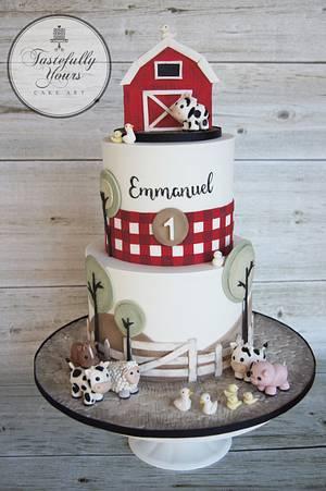 Barnyard Birthday - Cake by Marianne: Tastefully Yours Cake Art