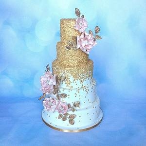 Gold sequins - Cake by Jen's Cake Boutique
