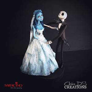 Topper With «Corpse bride» and «the Nightmare before Christmas» - Cake by Claire DS CREATIONS