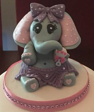 Elephant baby shower cake - Cake by Cakes by Maray