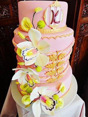 Golden Birthday Cake!  - Cake by Princess of Persia