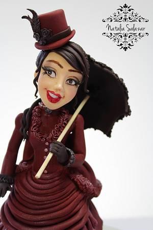 """Elisabetta"" ""The History of Fashion"" collaboration of sugar artists - Cake by Natalia Salazar"