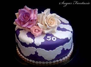 Romantic lace cake - Cake by Ildikó Dudek