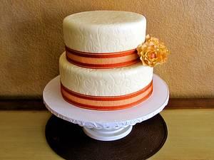 My 1st Wedding Cake - Cake by Melissa