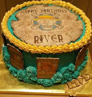 "Anime ""One Piece Pirates"" birthday cake - Cake by eiciedoesitcakes"