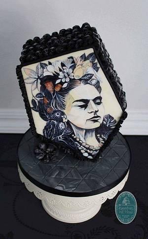 Frida Kahlo Cake# Sugar Skull Bakers#Mexico#handpainted  - Cake by Heike Darmstädter