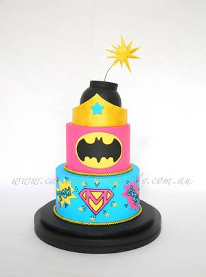 Supergirl Cake - Cake by Leah Jeffery- Cake Me To Your Party