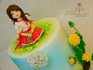 Little girl - Cake by Sladky svet