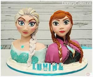 3D Elsa and Anna cake - Cake by Sobi Thiru