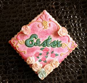 'Easter' Plaque Cookie. - Cake by Sweet Dreams by Heba
