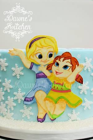 Frozen Girls - Cake by Dawne's Kitchen