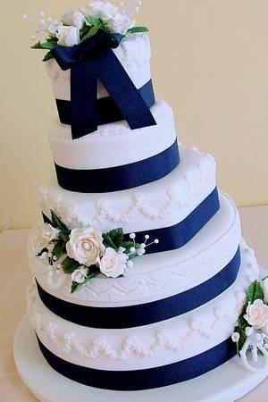 The Sugar Nursery - Nautical-themed wedding cake - Cake by The Sugar Nursery - Cake Shop & Imaginarium