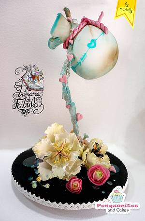 La Vasija Agrietada  (Gravity defying Spring Cake) - Cake by Marielly Parra