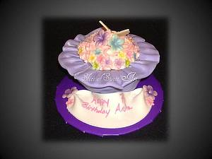 Butterfly & Blossom Cupcake  - Cake by Slice of Sweet Art