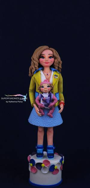 Mother's Love! - Love is...Collaboration - Cake by Super Fun Cakes & More (Katherina Perez)