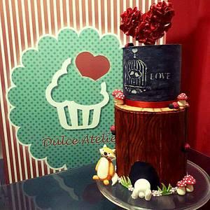 Tree bark / blackboard cake - Cake by DulceAtelier