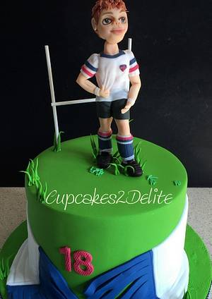 Rugby 18th Birthday Cake - Cake by Cupcakes2Delite