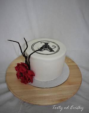 Birthday cake with logo - Cake by Cakes by Evička