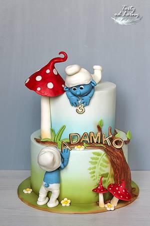 The Smurfs cake - Cake by Lorna