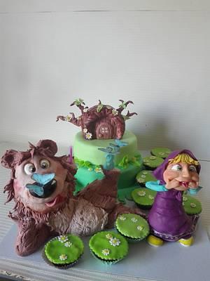 Masha and the bear  - Cake by carlaquintas