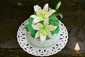 Lilies for lovely friends - Cake by Benny's cakes