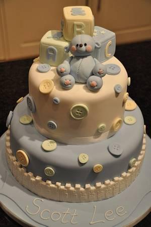 Christening Cake - Cake by Gilly B Cakery