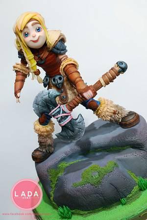 Astrid Sugar figures - Cake by Ladadesigns