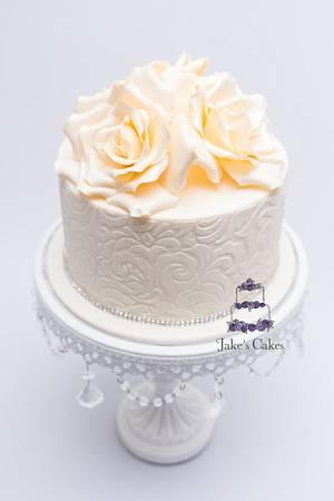 Ivory Roses - Cake by Jake's Cakes