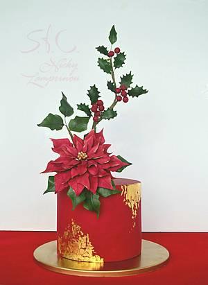 chrismas cake  - Cake by Sugar  flowers Creations