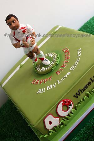 Cake for England Rugby player Jason Robinson - Cake by Zoe's Fancy Cakes