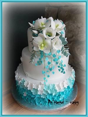 Wedding turquoise cake - Cake by Petraend
