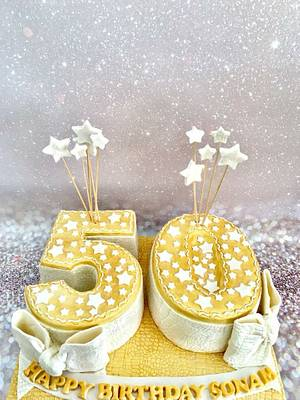 50 th birthday cake  - Cake by Tiers of joy