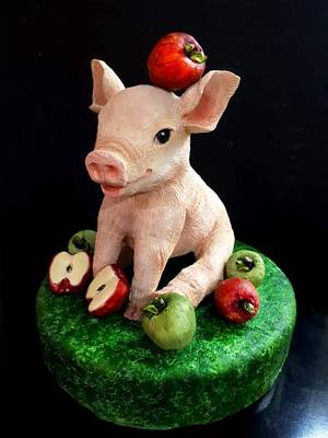 Little pig - Cake by Laura Reyes