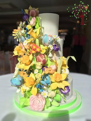 Spring/Easter wedding - Cake by Blossom Dream Cakes - Angela Morris