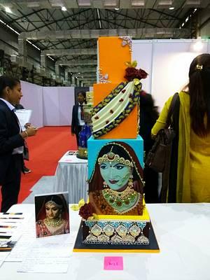 "Wedding cake - Theme "" Indian Sari""   - Cake by Sheetal chourasia"