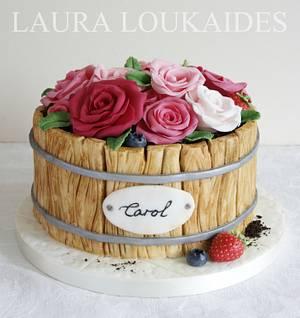 Flower Barrel Cake - Cake by Laura Loukaides