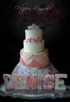 Elegant princess  - Cake by filippa zingale