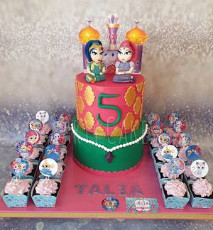 Shimmer and shine  - Cake by Arty cakes