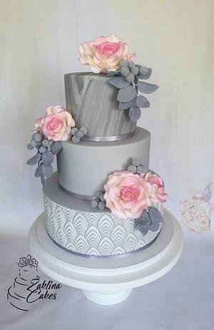 Marble wedding cake - Cake by Zaklina