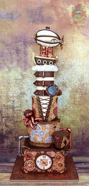 Steampunk wedding cake - Cake by Karen Keaney