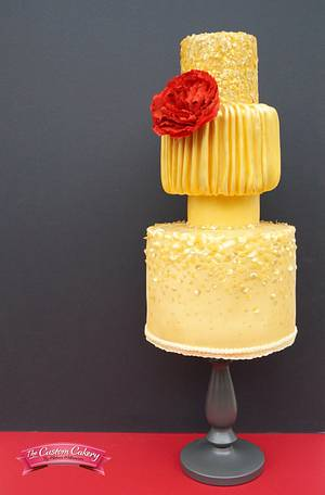 Oscar de la Renta inspired cake - Red Carpet Collab - Cake by The Custom Cakery