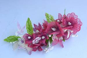 Gelatin flowers - Cake by Ditsan