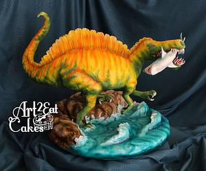 Spinosaurus Smiles - Cake by Heather -Art2Eat Cakes- Sherman