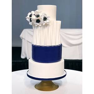 Modern architectural pleated cake - Cake by Jessica Phan