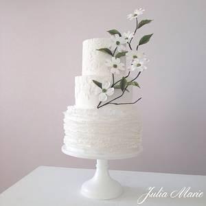 Dogwood Blossom Wedding Cake - Cake by Julia Marie Cakes