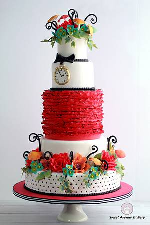 Alice in Wonderland Wedding Cake - Cake by Sweet Avenue Cakery