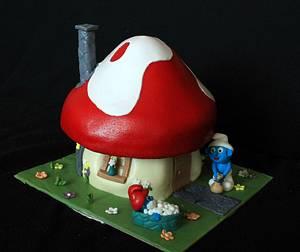 Smurf house - Cake by Anka