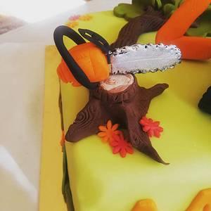 Tractor & chain saw 😁 - Cake by TORTESANJAVISEGRAD